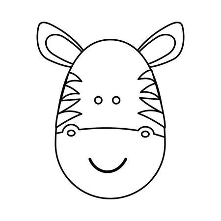 jenny: figure face zebra icon, vector illustration design image Illustration