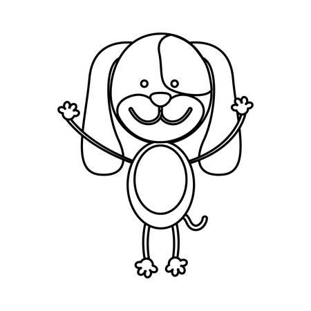 figure teddy dog icon, vector illustration design image