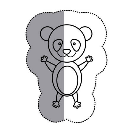 contour teddy bear icon, vector illustration design image