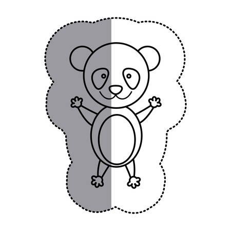 slingshot: contour teddy bear icon, vector illustration design image