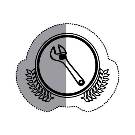 contour symbol onkey wrench icon, vector illustration design image Illustration