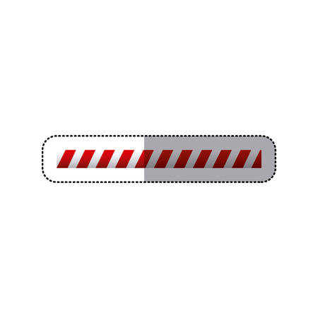 dangerous construction: sticker barrier icon line caution sign vector illustration