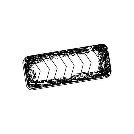 building site: silhouette emblem striped hazard tape line construction design vector illustration
