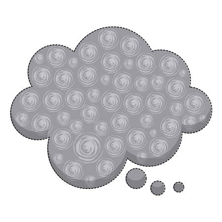 ellipse: sticker callout for dialogue shape of cloud with background swirls vector illustration
