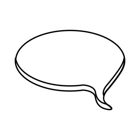 contour round chat bubble icon, vector illustraction designimage
