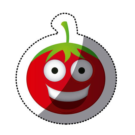 cartoon tomato: happy tomato icon, vector illustraction design
