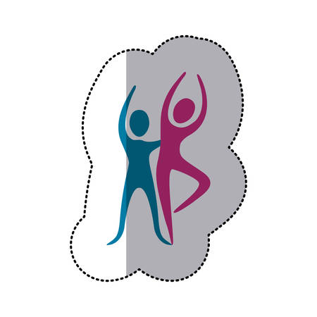 people couple dancing icon, vector illustraction design