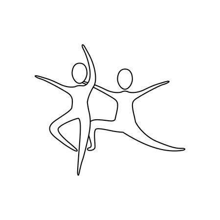 figure people practicing dancing icon, vector illustraction design