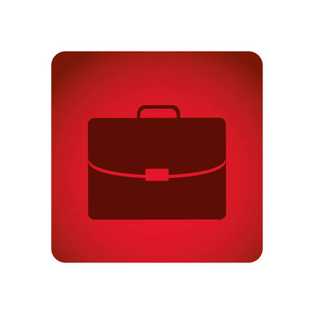 handgrip: red square frame briefcase executive icon vector illustration