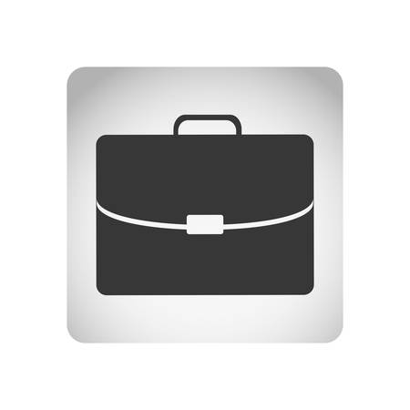 handgrip: monochrome square frame with silhouette briefcase executive icon vector illustration Illustration