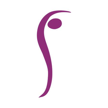 color silhouette woman icon, vector illustration design