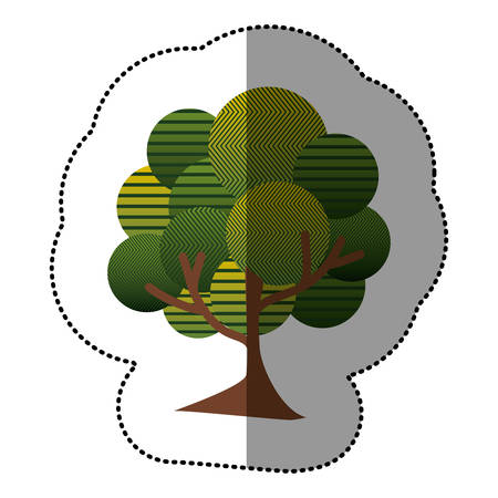 stamp natural tree icon, vector illustraction design image