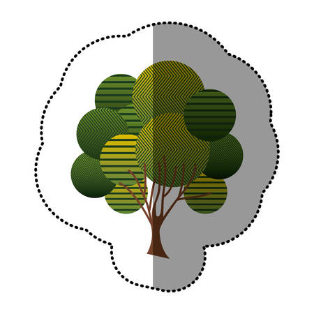 stamp creative tree icon, vector illustraction design image