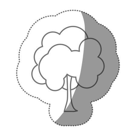 figure stamp natural tree icon, vector illustraction design Illustration