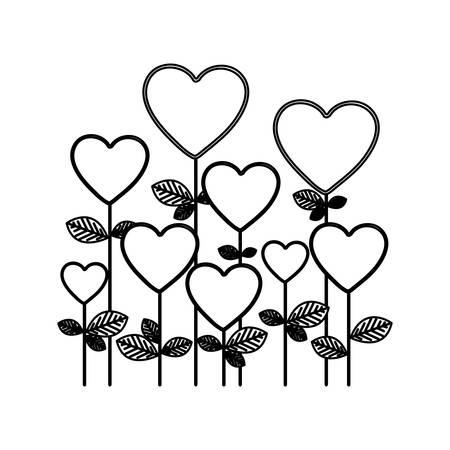 st valentin's day: figure trees balloons form icon, vector illustraction design Illustration