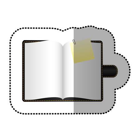 agenda: color agenda with big paper note, vector illustraction design image Illustration