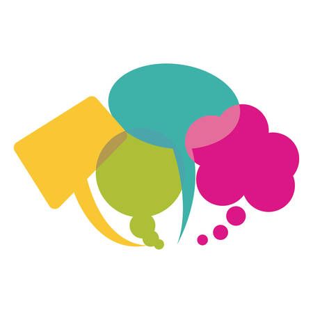Colorful collection speech bubbles and dialog balloons Illustration