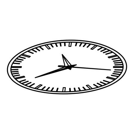 elapsed: silhouette display stopwatch graphic icon flat vector illustration Illustration