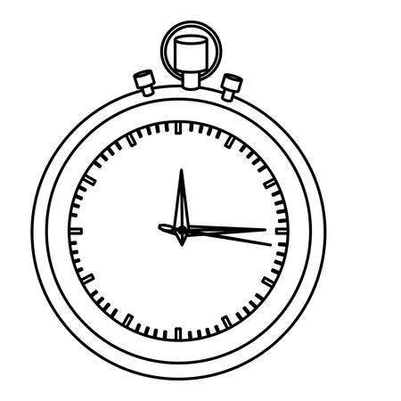 elapsed: silhouette stopwatch graphic icon flat vector illustration Illustration