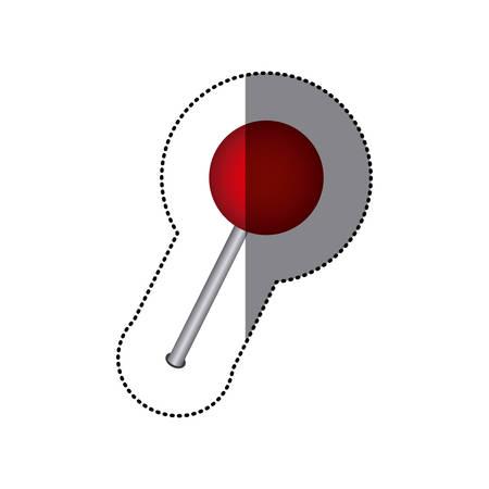 sticker color silhouette with pushpin icon vector illustration