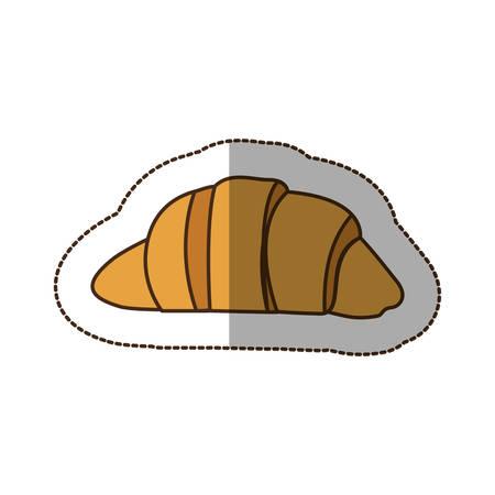 loaf: color croissant bread icon, vector illustraction design image