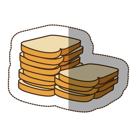 color white bread icon, vector illustraction design image Illustration