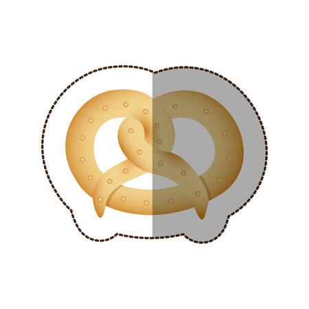 colorful pretzel bread icon, vector illustraction design image