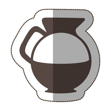 slanted: contour water pitcher icon, vector illustraction design image