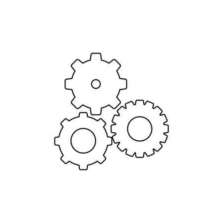 contour noir avec pignons set illustration vectorielle