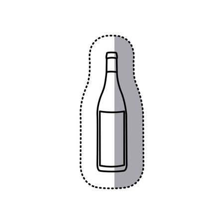 scotch: sticker black contour of glass bottle vector illustration Illustration
