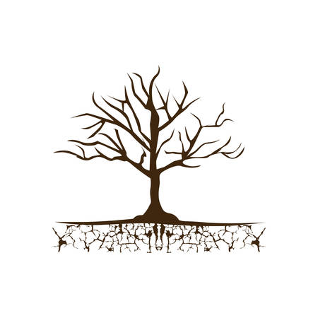 Color tree without leaves icon.