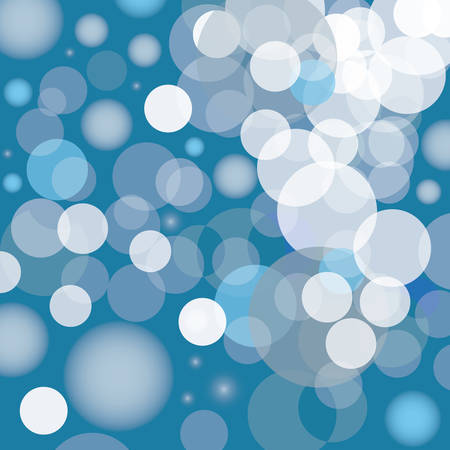 ball point: blue bubbles  vector illustration