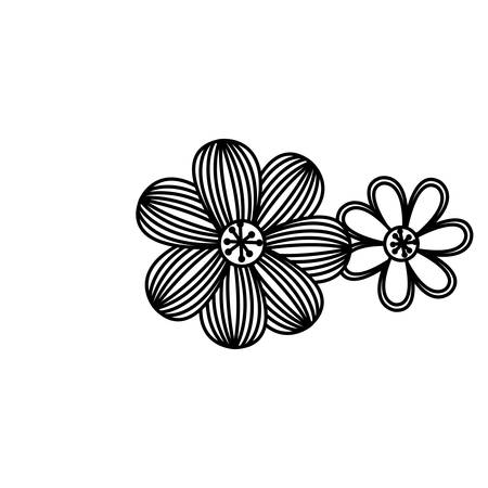 figure flowers with ovals petals icon, vector   design