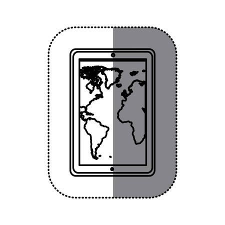 percentual: figure map in the smarphone icon, vector illustraction design