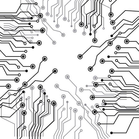Figure Electrical Circuits Icon Vector Illustraction Design Royalty