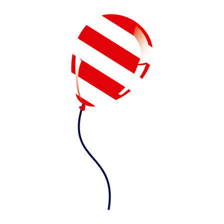 balloon with stripes independence day icon Illustration