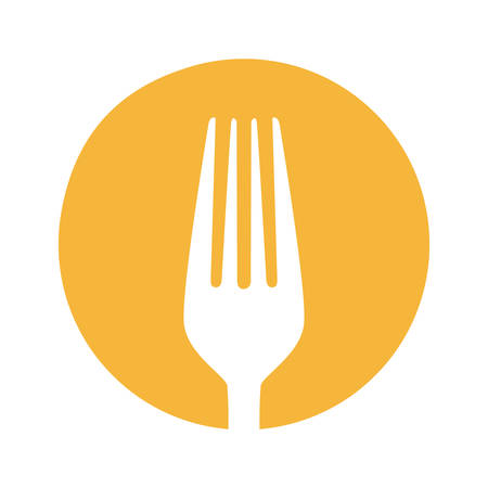 symbol fork tool icon, vector illustraction design image