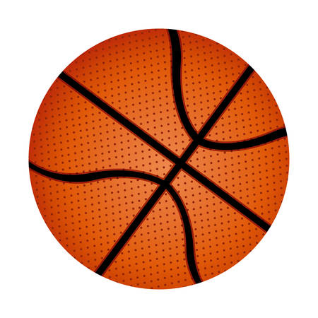 nba: white background with basketball ball vector illustration