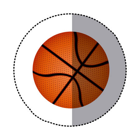 background sticker with basketball ball vector illustration
