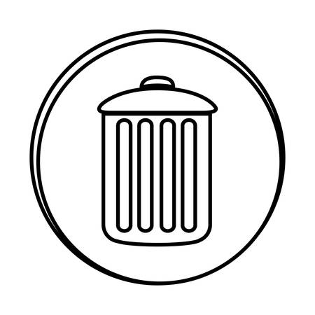 dumpster: silhouette symbol can trash icon, vector illustraction design