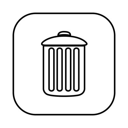 dumpster: figure symbol can trash icon, vector illustraction design