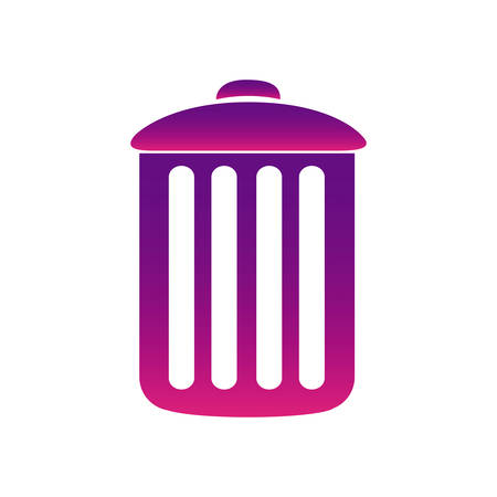dumpster: purple can trash icon, vector illustraction design Illustration