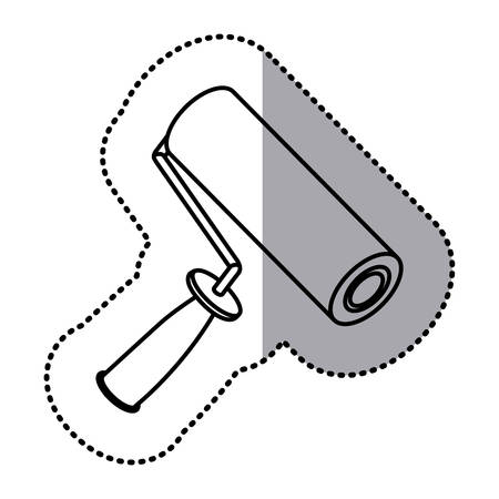 house painter: figure paint roller icon, vector illustraction design