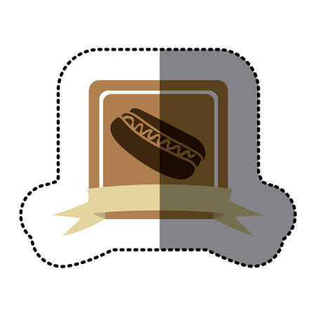 rown: rown emblem hot dog fast food icon, vector illustraction design
