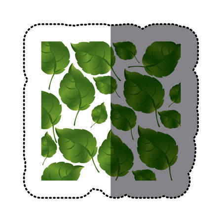 green leaves background icon, vector illustraction design
