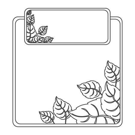 massage symbol: figure sheath of leaves icon, vector illustration design Illustration
