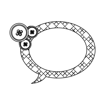 sticker figures oval chat bubbles icon, vector Illustration