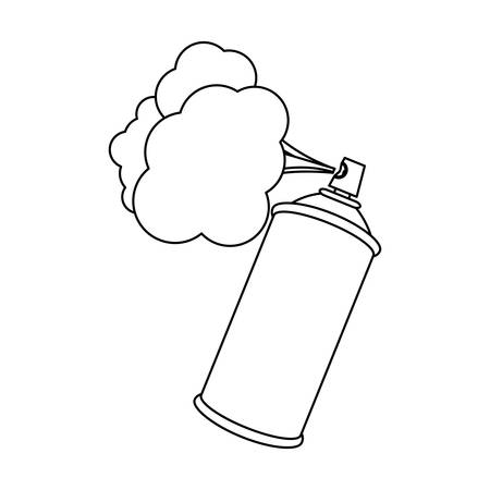 figure aerosol sprays with cloud icon, vector   design