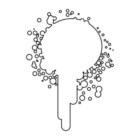 icône de taches de peinture figure, conception de vecteur