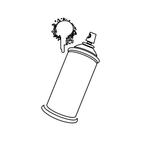 vandalism: figure aerosol sprays with a stain icon, vector   design